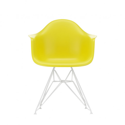 Dar Plastic Armchair In Sunlight & White