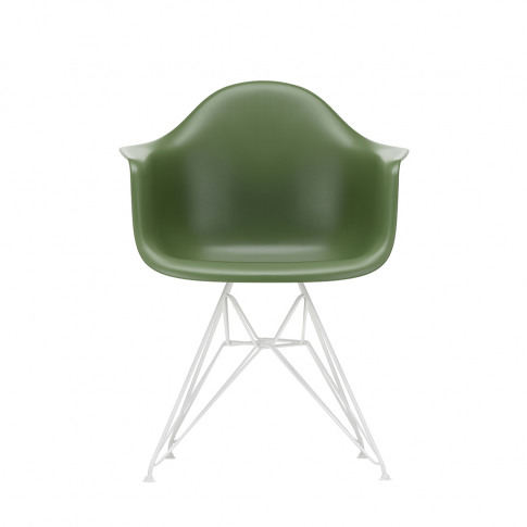 Dar Plastic Armchair In Forest & White
