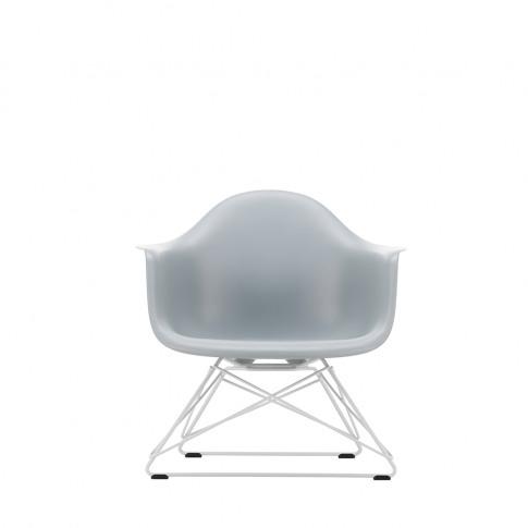 Lar Plastic Armchair In Light Grey & White