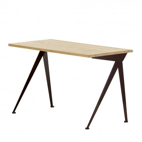 Compas Direction Desk In Oak & Deep Black