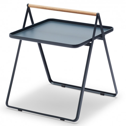 By Your Side Table In Aluminium & Dark Blue