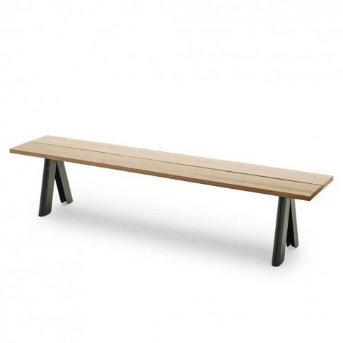 Overlap Bench In Steel & Green