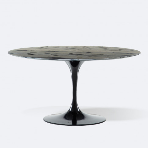 Exclusive Tulip Round Dining Table In Sequoia Brown ...