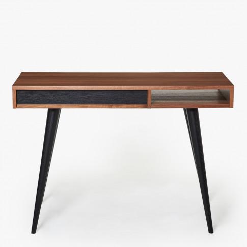 Celine Desk In Walnut & Black