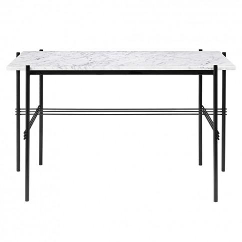 Ts Desk In White Carrara Marble
