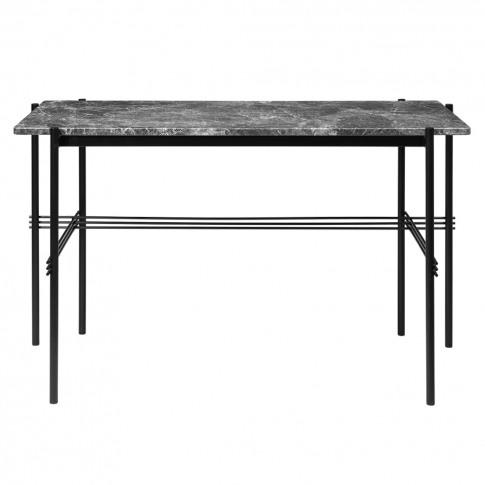 Ts Desk In Grey Emperador Marble