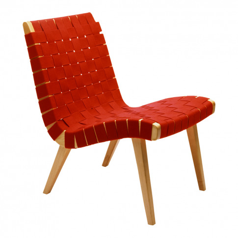 Risom Lounge Chair Red