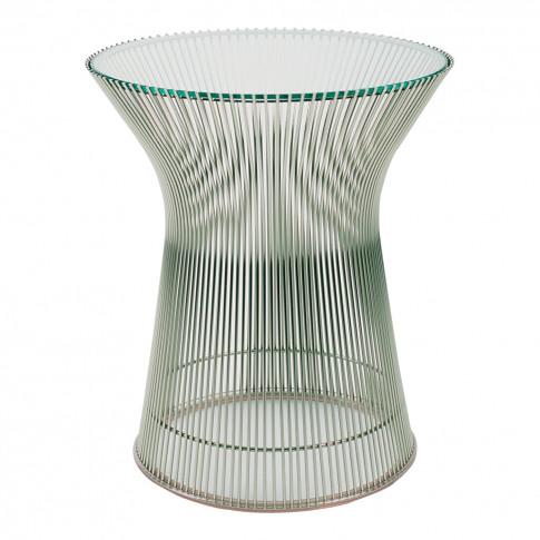 Platner Side Table Polished Nickel