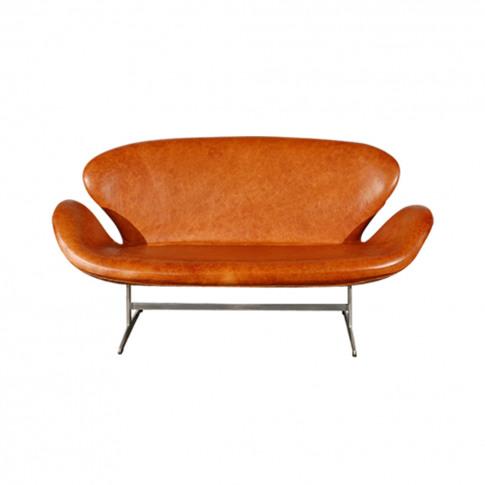Swan Sofa Grace Leather Walnut