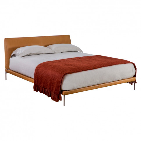 Talamo Bed In William Leather King Size
