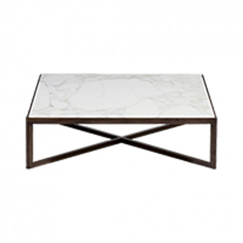 Krusin Coffee Table Walnut Stained Oak & Calacatta M...