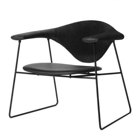 Masculo Lounge Chair Sahara Leather Black