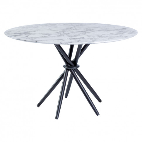 Stix Dining Table In Arabescato Marble