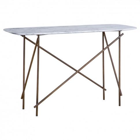 Workshop Console Table Arabescato Marble & Black