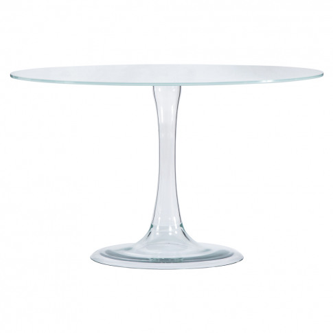 Funghetti Dining Table Opaque Lacquered Glass White