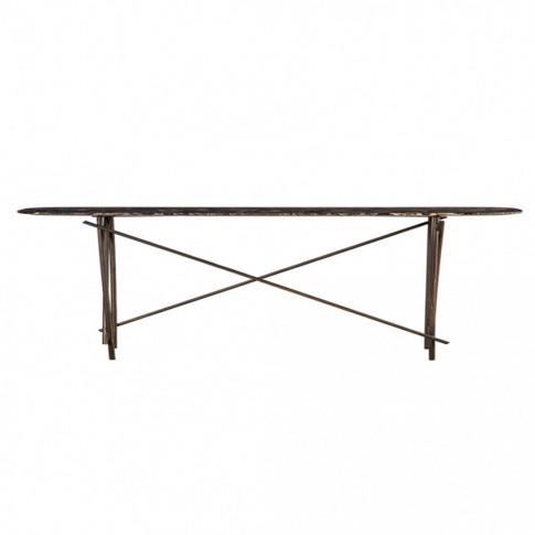 Workshop Coffee Table Emperador Marble & Bronze Large