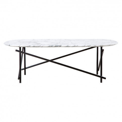 Workshop Coffee Table Arebescato Marble & Black