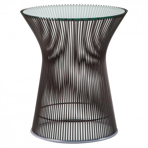 Platner Side Table Metallic Bronze