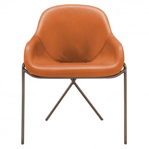 Cross Leg Dining Chair Legacy Tan Leather
