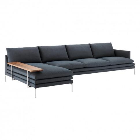 William Chaise Modular Sofa & Walnut Shelf 3-Seater