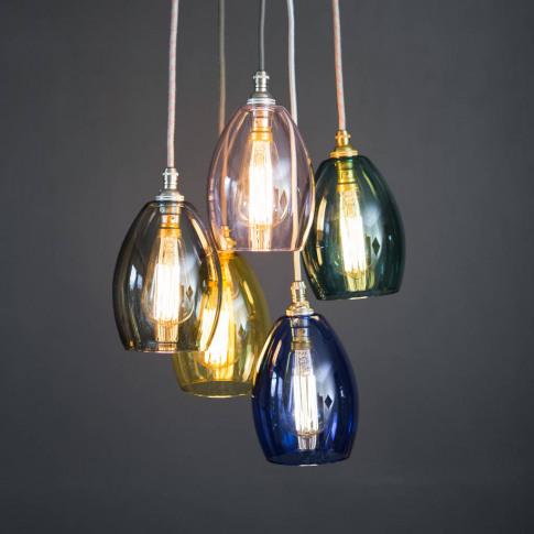 Coloured Glass Bertie Small Cluster Pendant Light