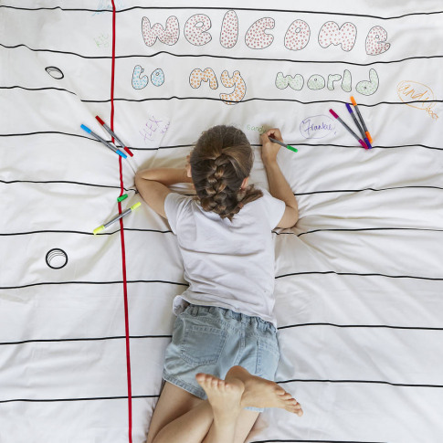 Doodle Duvet Cover Single, To Personalise