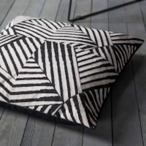 Black And White Geo Floor Cushion