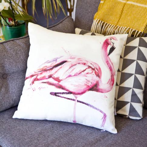 Inky Flamingo Luxury Cushion And Inner