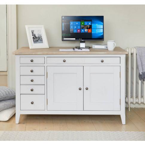 Ridley Grey Hidden Home Office Desk