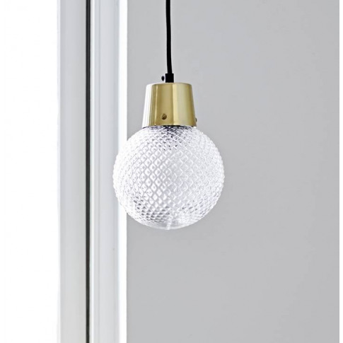 Round Dimpled Glass Ceiling Light Pendant Chandelier