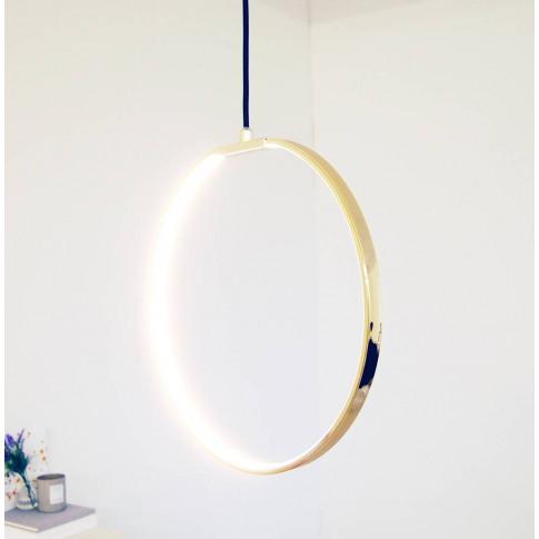 Gold Round LED Ceiling Light Modern Chandelier