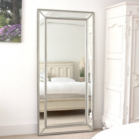 Double Beaded Classic Silver Mirror