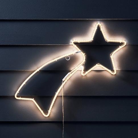 Neon Shooting Star Wall Light