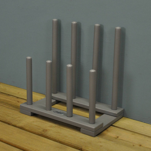 Wooden Boot And Shoe Rack In Grey