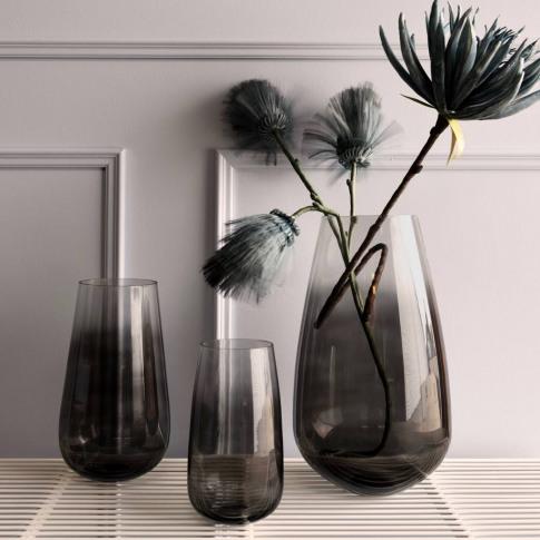 Black Smoked Glass Vase