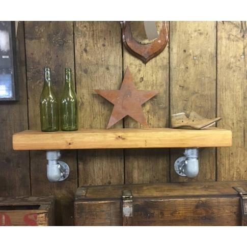 Reclaimed Wooden Industrial Shelving