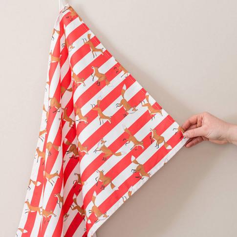 Fox Stripe Tea Towel