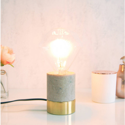 Diamond Marble And Gold Desk Lamp