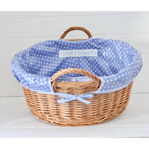 Personalised Wicker Laundry Basket