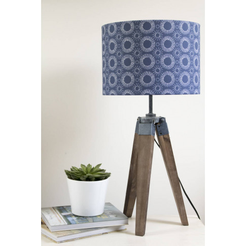 Scandi Style Aster Flower Print Lampshade