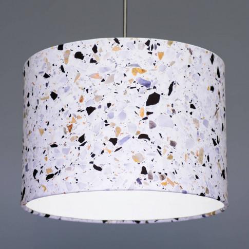 Terrazzo Effect Fabric Drum Lampshade