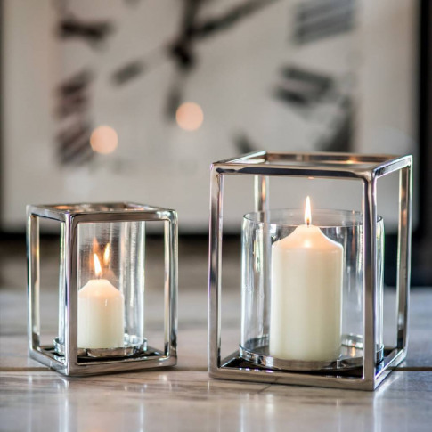 Silver Plated Square Candle Holder