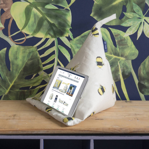 Bean Bag Cushion Tablet Stand In Busy Bees