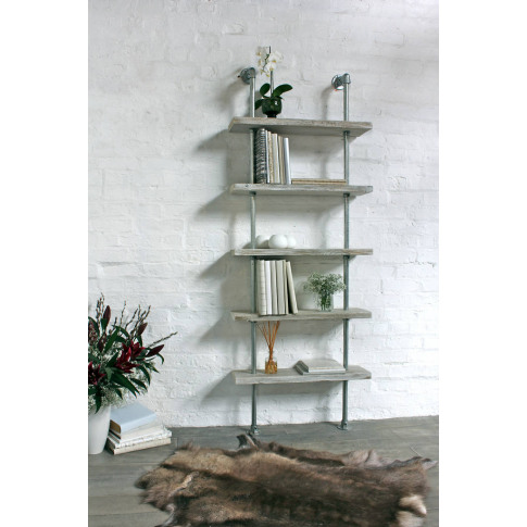 Robyn Adjustable Reclaimed Pine Bookcase