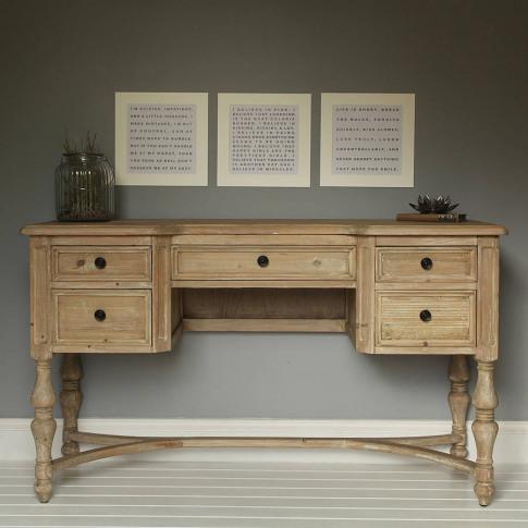 Vintage Five Drawer Desk