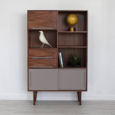 Edgeware Handmade Walnut Bookcase