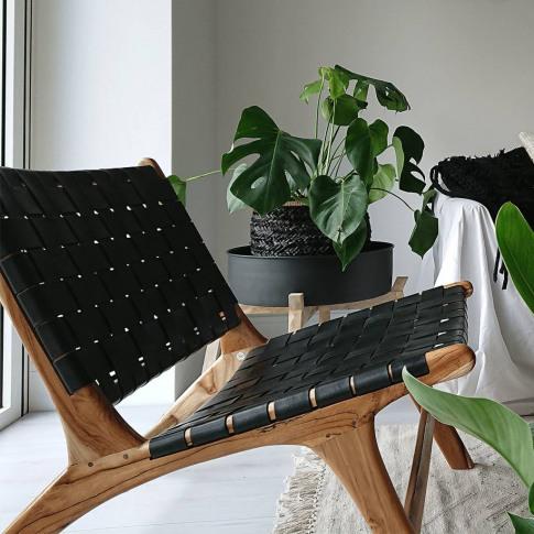 Natural And Black Anya Lounge Chair