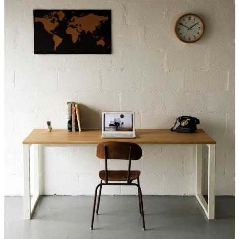 Desk, In Oak, Square Legs, Choice Of Colours