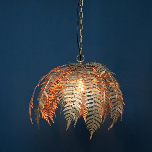 Palm Leaf Pendant Light