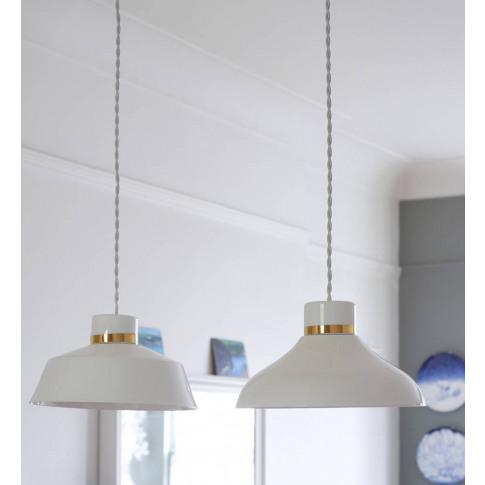 Factory Stripe Gold Pendant Light